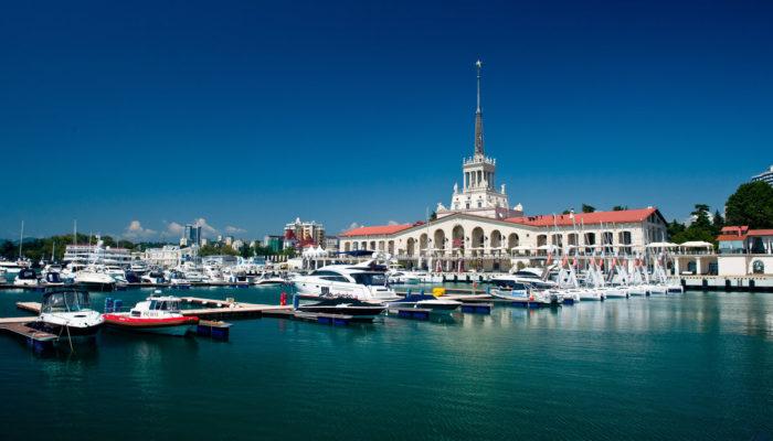 Морской вокзал в Сочи