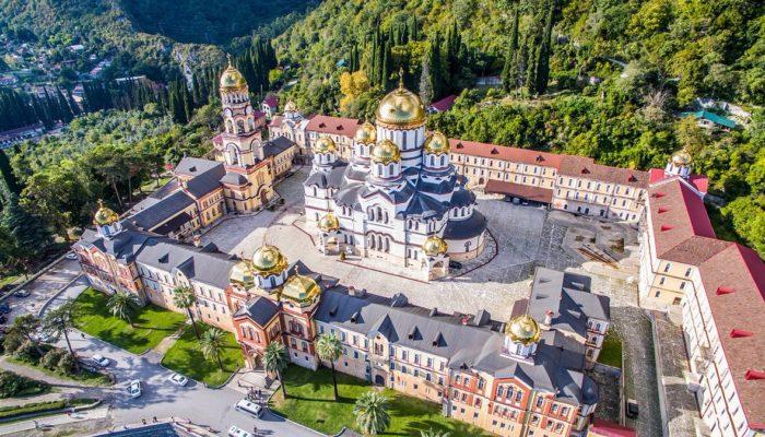 Мужской монастырь в Абхазии